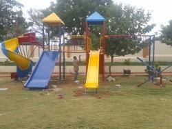 2 Pillar Multi Play Systems With Spiral Slide