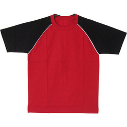 Red and Black Round Neck T-Shirt