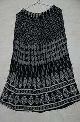 Block Print Long Skirt
