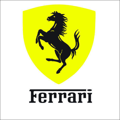 Ferrari vinyl sticker decal logo