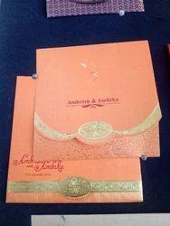 Orange Wedding Card