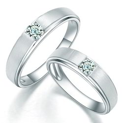 Exclusive Real Diamond Couple Solitaire Ring