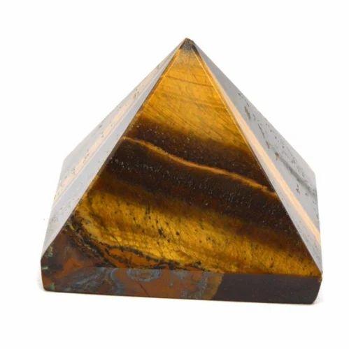Crystal Natural Tiger Eye Gemstone Healing Pyramid
