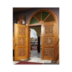 Diamond Exterior Wooden Main Door, For Home
