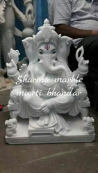 White Marble Ganpati Moorti