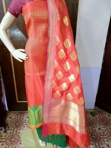 ad072aaf98 Handloom Banarasi Dress Material at Rs 1499 /piece | Cotton Saree ...