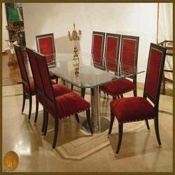 Glass and Metal Dining Set