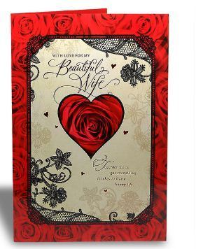 Beautiful wife floral greeting card at rs 199 beautiful wife floral greeting card bookmarktalkfo Choice Image