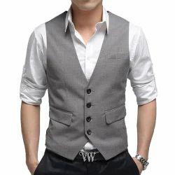 Men Grey Corporate Waist Coats