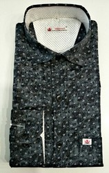 Cotton Printed Muscari Smart Shirt
