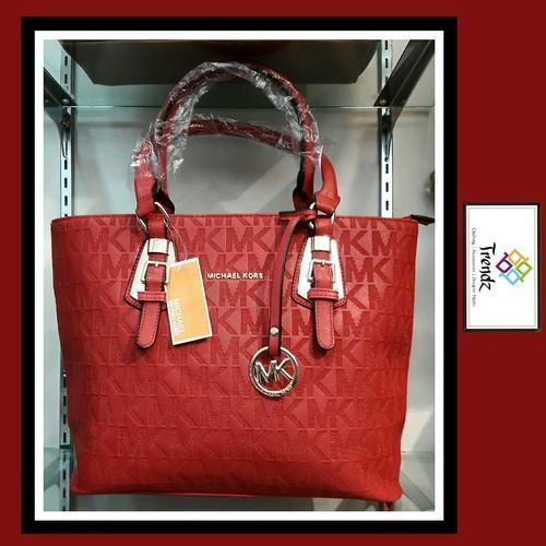 d76e6aa5cc2d Michael Kors Cherry Red Imported Tote Bag MK, Rs 1575 /piece | ID ...