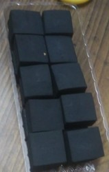 Black Hookah Cube Charcoal Briquette, For Burning And Beverage Industry