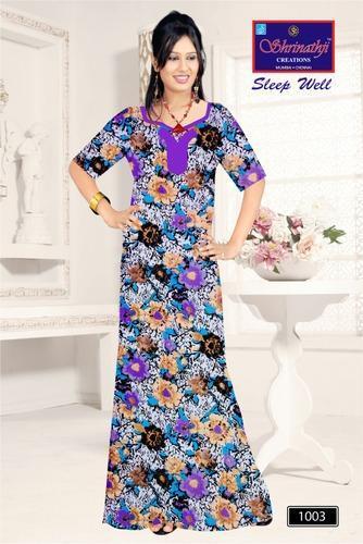 b002c3cc79 Ladies Cotton Nighty - 100% Cotton Designer Nighty Manufacturer from ...