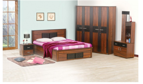 Carvin 4 Piece Bedroom Set