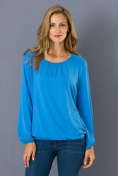 Blue Women Tops