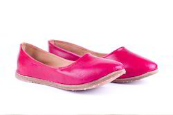 M B Exports Leather Slippers - Pink Shoes