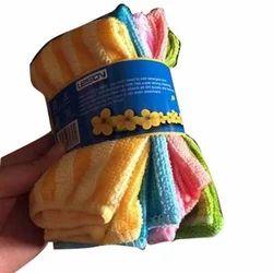 Nk Enterprises Stripped Microfiber Towel Set, Rectangular, Size: 40 X 60 Cm (w X L)