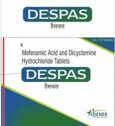 Mefenamic Acid & Dicyclomine Hcl (Despas Tablet)