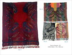 Red Bead Wool Shawls