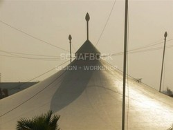 Tensile Fabric Cover Installation