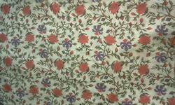 Flower Jaal Block Printed Fabric
