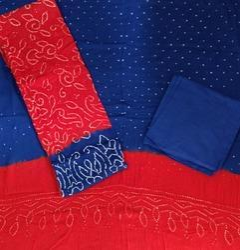 Unstitched Modern Bandhej Suits