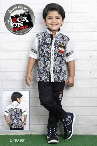 3 To 7 Years Boys Half Jacket Kids Suit