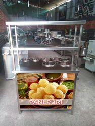 Pani Puri Counter Size: 36x24x32 12 12