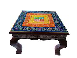 Wooden Chowki Embose Work