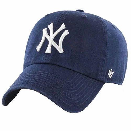 6d7c7f7d017e03 Blue NY Baseball Cap For Men & Women at Rs 165 /piece | कॉटन ...