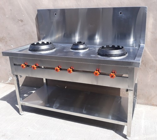 Stainless Steel Chinese Cooking Range, For Commercial