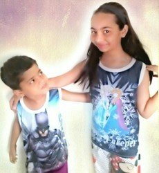 Casual Wear Printed Kids Sleeveless T-shirt