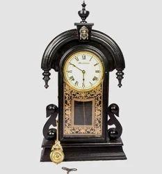 black antique old style pendulum wall clock