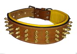 Leather Dog Collar Spike Studded
