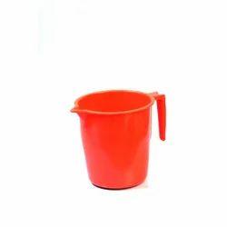 Red Plastic Mug, For Bathroom, Size: Regular