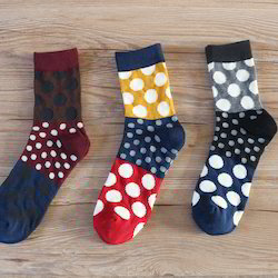 Men Crew Length High End Cotton Socks