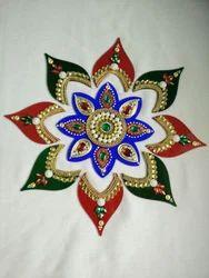 Acrylic Rangoli Flower