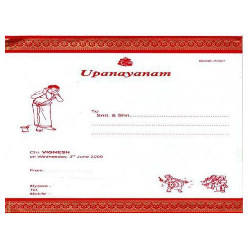 Great Upanayanam Invitation Card
