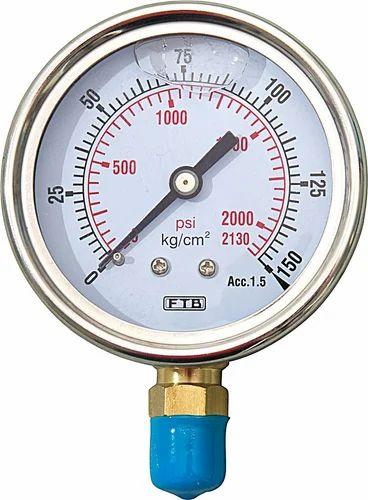 H Guru Gauges Glycerine Filled Pressure Gauge