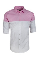 Grey and Pink Half & Half Mens Shirts