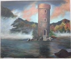 Smooth Light House Oil Painting, Size: 12 X 16 Inch