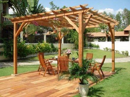 Good Garden Wooden Pavilion Gazebo