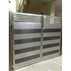 Elegant Stainless Steel Gate