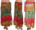 Rayon Tie Dye Wrap Skirt