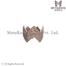 Designer Rose Gold Diamond Ring