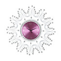 Crystal Stone Metal Wall Clock