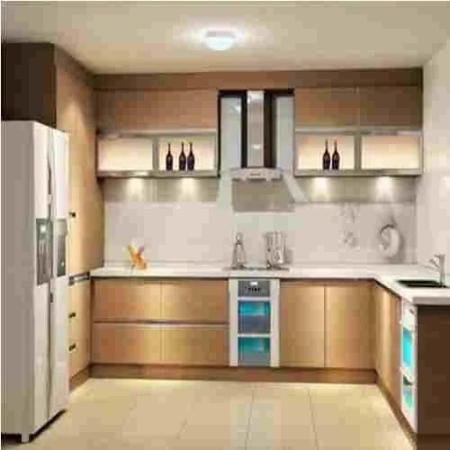 Modular Kitchen Furniture Design: Wooden Modular Kitchen, Lakdi Ka Modular Rasoi Ghar, Modular Wooden Kitchen, लकड़ी की मॉड्यूलर