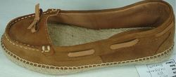 Leather Espadrille Brown