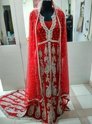 Heavy Stone Embroidered Maxi Bridal Wear