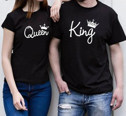 Printed Casual Wear Couple T Shirts